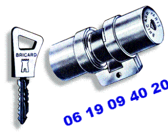 cylindre et boitier BRICARD